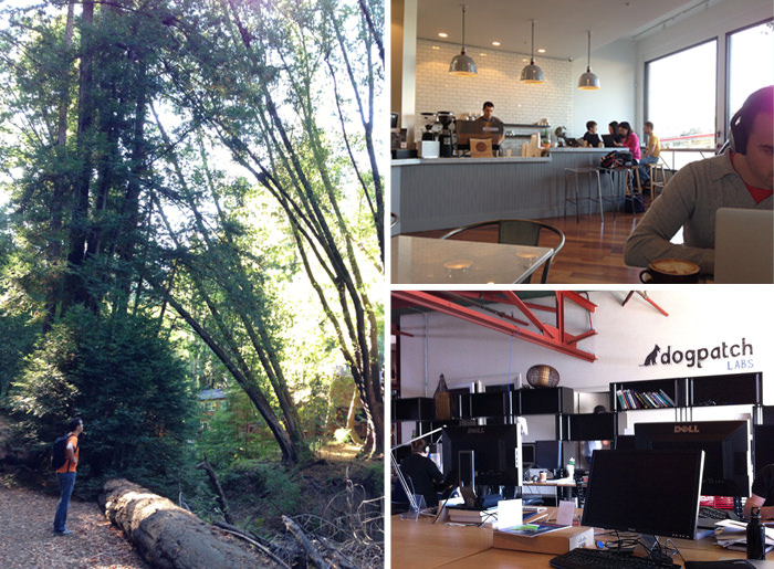 I spent the last half of 2010 at coffee shops around SF, and later at Dogpatch Labs. Hikes around the Bay Area helped me clear my head.